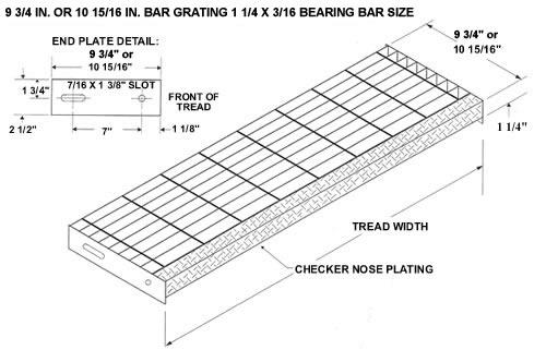 Bar Grating Stair Treads Galvanized Treads