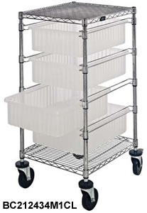 Chrome Wire Shelving System, Wire Shelving System with Clear-View ...