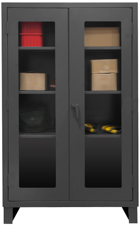 EXTRA HEAVY DUTY CLEARVIEW LOCKABLE STORAGE CABINETS (Recessed Door Style)