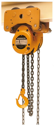 Harrington Nth Low Headroom Trolley Hoist 1 2 Amp 5 Ton