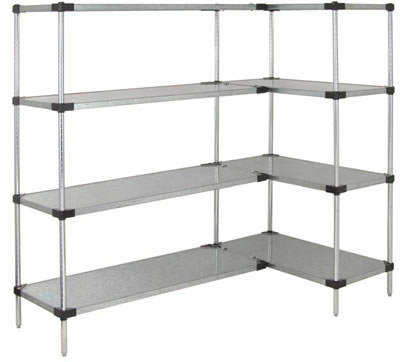 Solid Shelf Units Galvanized Steel Shelves Solid