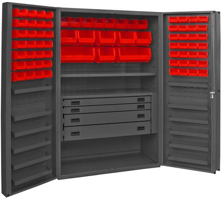 Heavy Duty All Welded Bin Cabinets Plastic Bin Welded