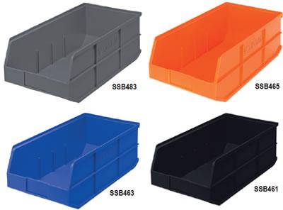 Stackable Shelf Bins, Bin Storage Centers, Shelf Bins, Wire Shelving