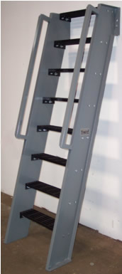 Ships Ladder, 60° IBC Design, Hatch Access, Roof Access Ladders